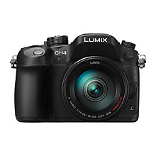 "Buy Panasonic Lumix DMC-GH4 Compact System Camera with 14-140mm Lens, 4K UHD, 16.05MP, OLED EVF, 3"" OLED Screen Online at johnlewis.com"