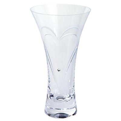 Dartington Crystal Romance Vase, Small, Clear