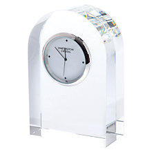 Buy Dartington Crystal Small Curve Clock, Clear Online at johnlewis.com