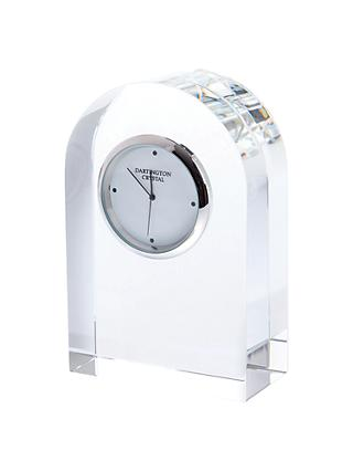 Dartington Crystal Small Curve Clock, Clear
