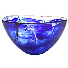 Buy Kosta Boda Contrast Bowl, Blue Online at johnlewis.com