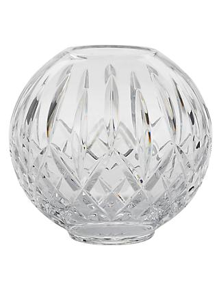 Waterford Lismore Rose Lead Crystal Glass Bowl, Clear, Dia.15cm