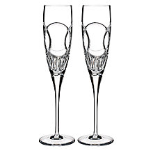 Buy Waterford Wedding Vows Flutes, Set of 2, Clear Online at johnlewis.com