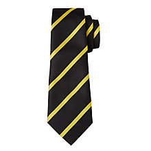 Buy John Hampden Grammar School Unisex Tie, Black/Amber Online at johnlewis.com