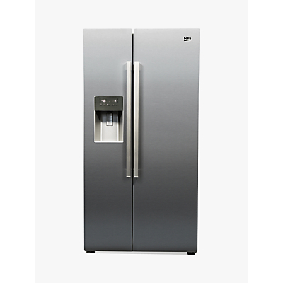 Beko ASP341X American Style Fridge Freezer, A+ Energy Rating, 91cm Wide, Stainless Steel