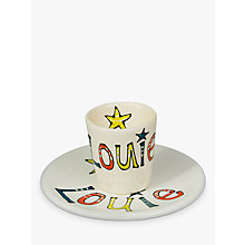 Buy Gallery Thea Personalised Straight Sided Name Egg Cup Online at johnlewis.com