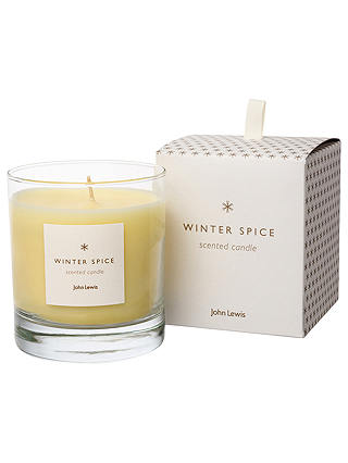 Buy John Lewis Winter Spice Christmas Candle, 220g Online at johnlewis.com