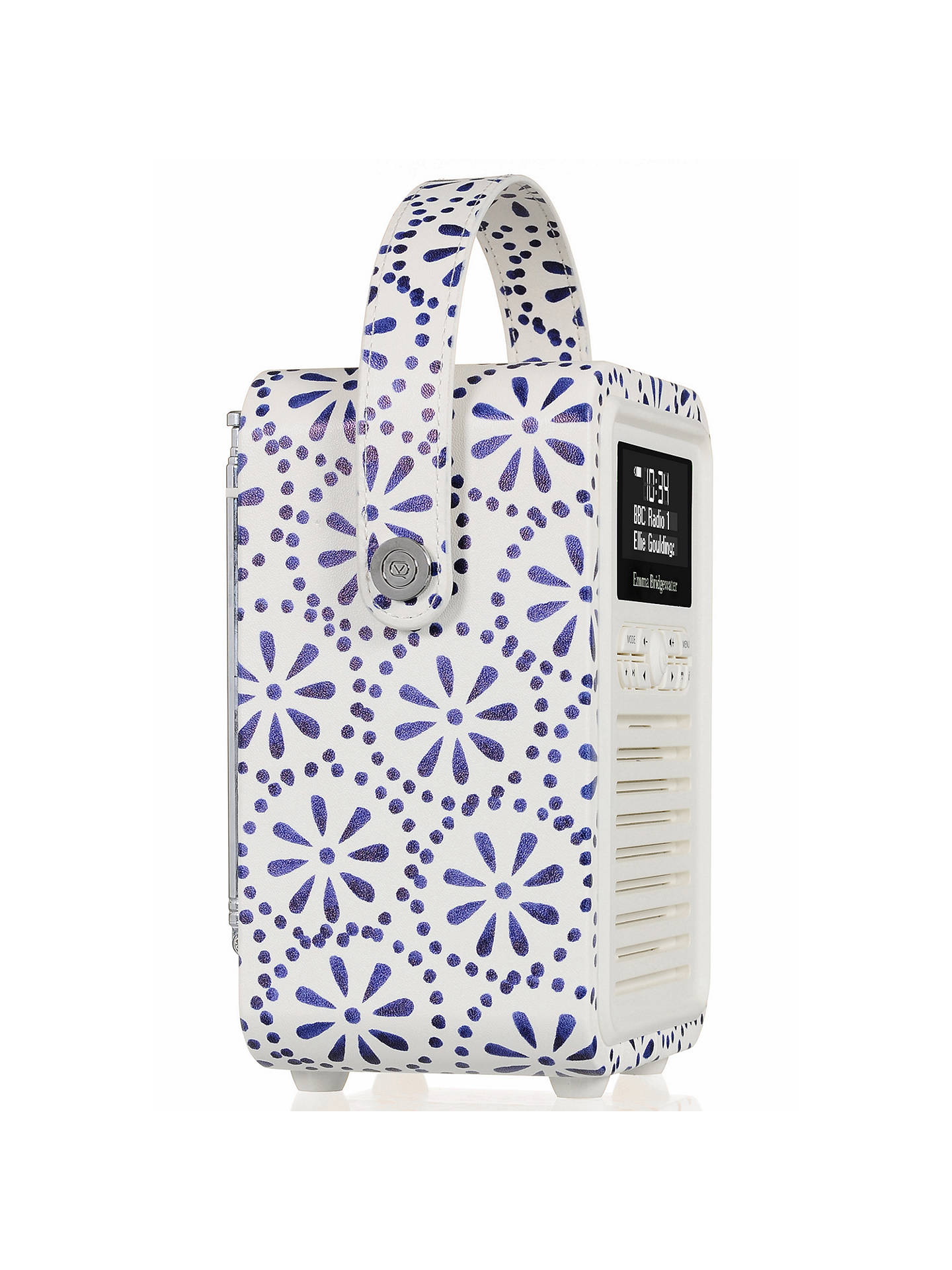 Buy VQ Retro Mini DAB/FM Bluetooth Digital Radio, Emma Bridgewater Patterns, Blue Daisy Online at johnlewis.com