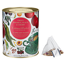 Buy Crabtree & Evelyn Green Rooibos Peach & Cherry Tea, 30g Online at johnlewis.com