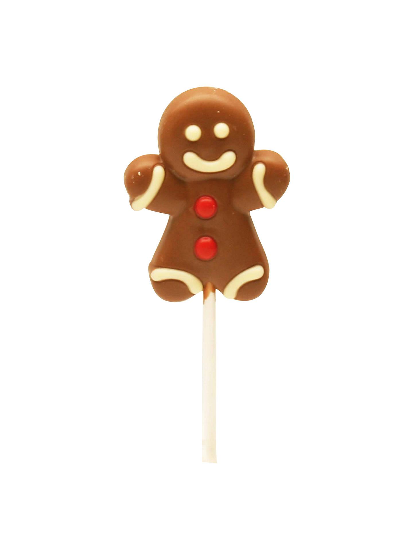 Natalie Milk Chocolate Gingerbread Man Lollipop 30g