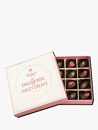 Charbonnel et Walker Rose & Violet Creams, Box of 16, 185g