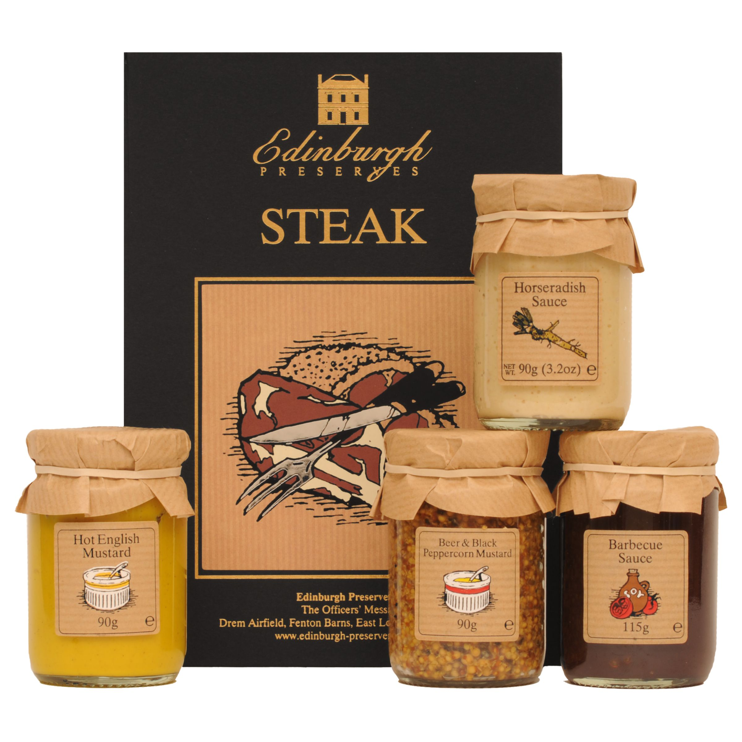 Edinburgh Preserves Steak Sauces Set 385g At John Lewis Partners