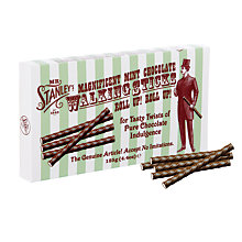 Buy Mr. Stanleys 'Walking Sticks' Mint Dark Chocolate, 125g Online at johnlewis.com
