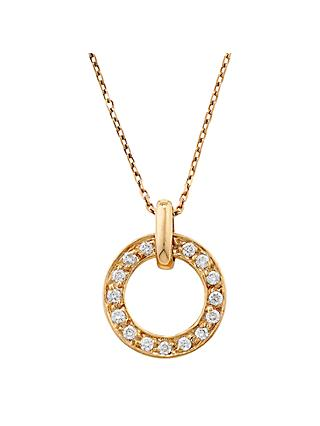 London Road 9ct Gold Diamond Meridian Pendant