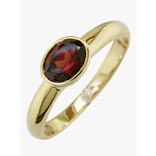 Buy EWA 9ct Gold Rub Over Oval Ring Online at johnlewis.com