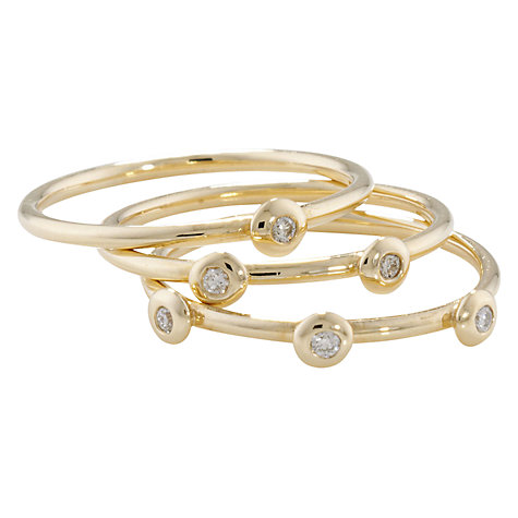 Buy London Road 9ct Gold Portobello Raindrop Stack Ring, Yellow Gold Online at johnlewis.com