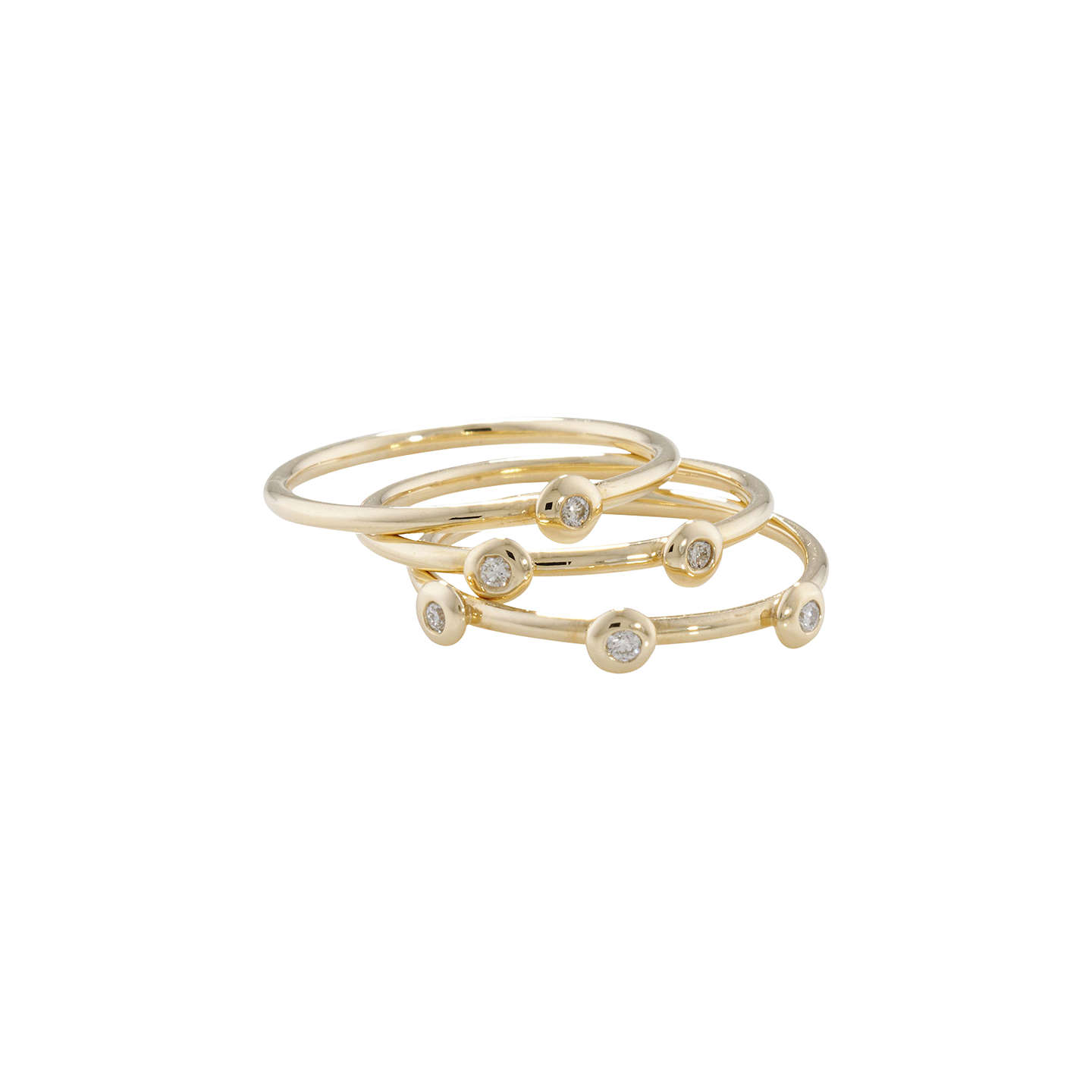 BuyLondon Road 9ct Gold Portobello Raindrop Stack Ring, Yellow Gold Online at johnlewis.com