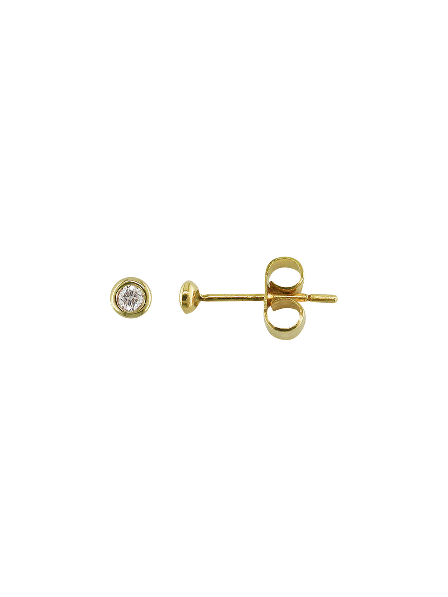 BuyLondon Road 9ct Gold Portobello Raindrop Diamond Stud Earrings, Yellow Gold Online at johnlewis.com