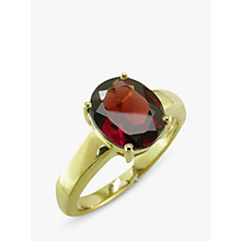 Buy EWA 9ct Gold Oval Ring, Garnet Online at johnlewis.com