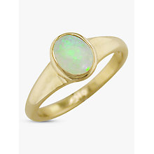 Buy EWA 9ct Yellow Gold Oval Ring, Opal Online at johnlewis.com