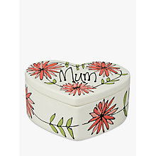 Buy Gallery Thea Personalised Heart Box, Large Online at johnlewis.com