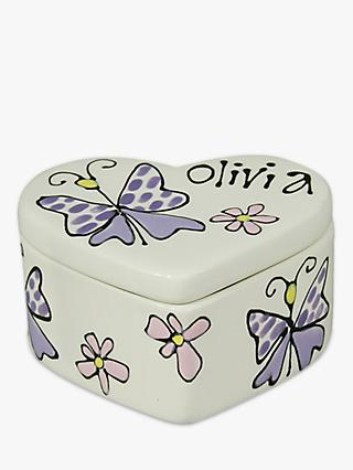 Gallery Thea Personalised Heart Box, Small