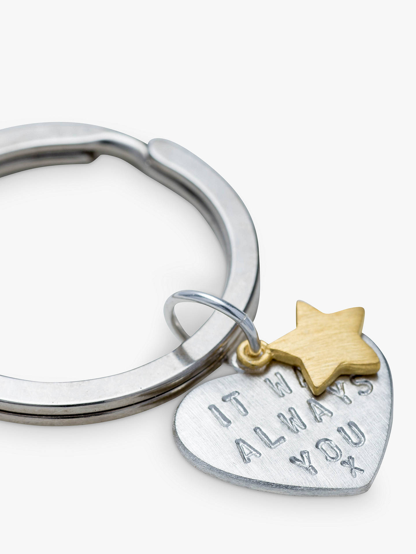 BuyChambers & Beau Personalised 'Love Is' Keyring Online at johnlewis.com