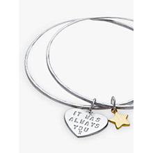 Buy Chambers & Beau Personalised 'Love Is' Double Bangle Online at johnlewis.com