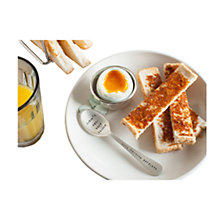 Buy Cutlery Commission Silver-Plated Personalised Egg Cup and Spoon Online at johnlewis.com