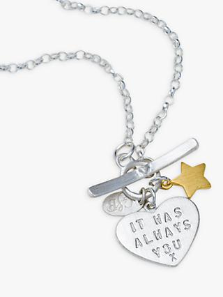 Chambers & Beau Personalised 'Love Is' Front Fastener Necklace