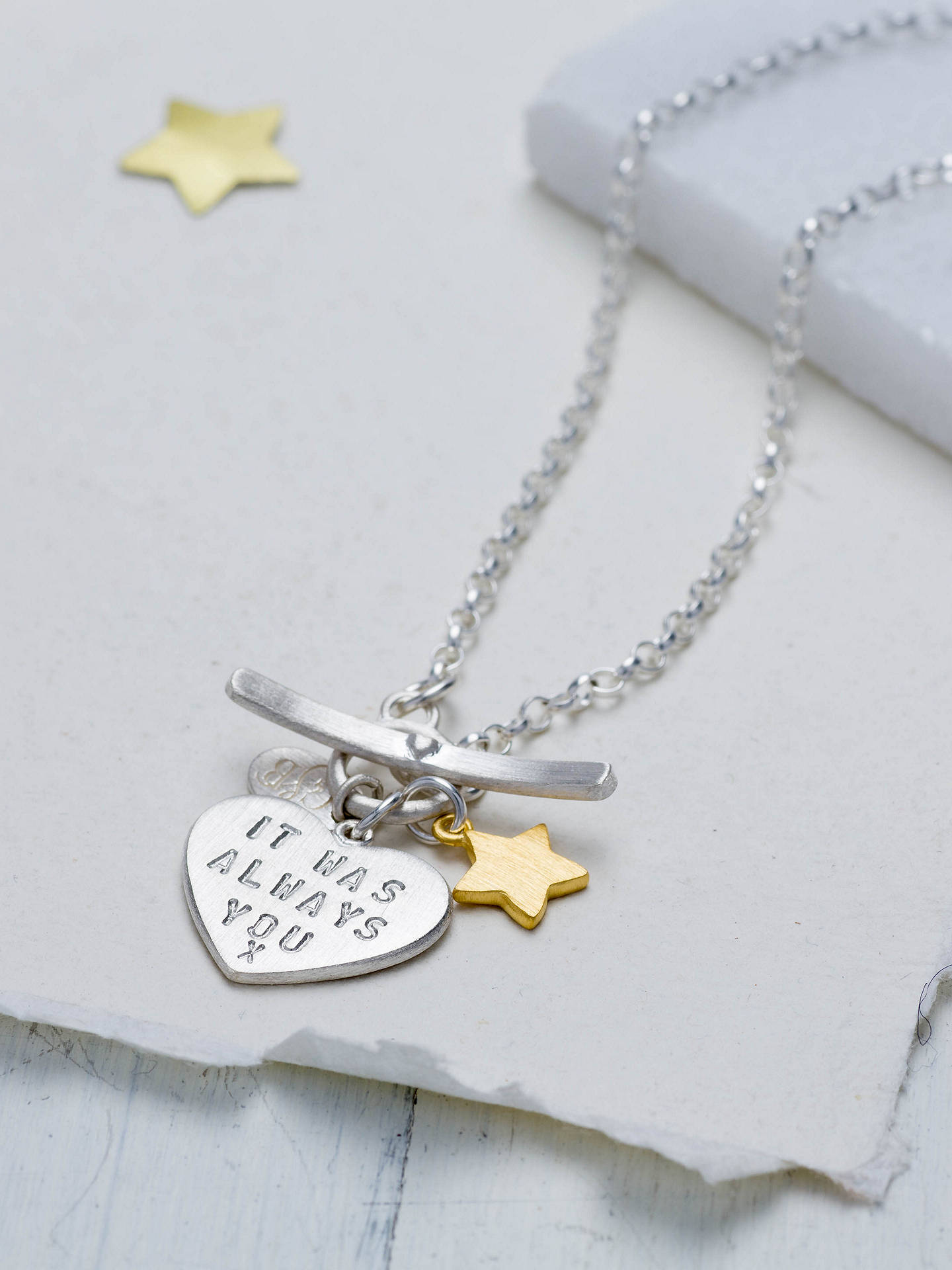 BuyChambers & Beau Personalised 'Love Is' Front Fastener Necklace Online at johnlewis.com