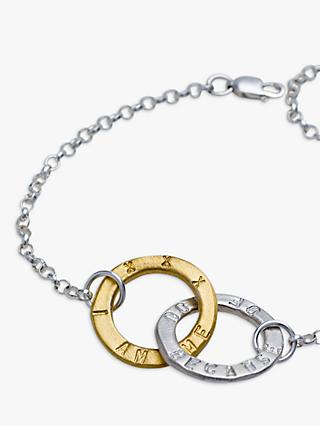 Chambers & Beau Personalised Linked Halo Bracelet