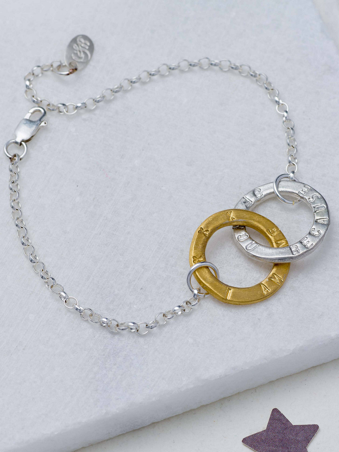BuyChambers & Beau Personalised Linked Halo Bracelet Online at johnlewis.com