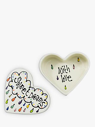 Gallery Thea Personalised Heart Box, Medium