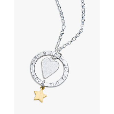 Image of Chambers & Beau Personalised 'Love You' Halo Necklace