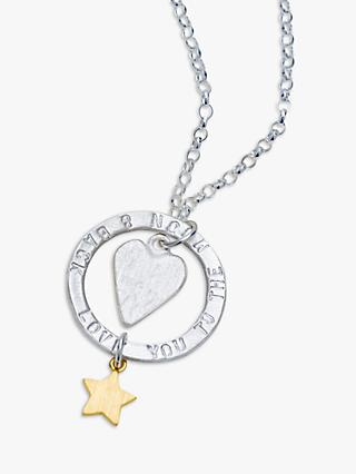 Chambers & Beau Personalised 'Love You' Halo Necklace