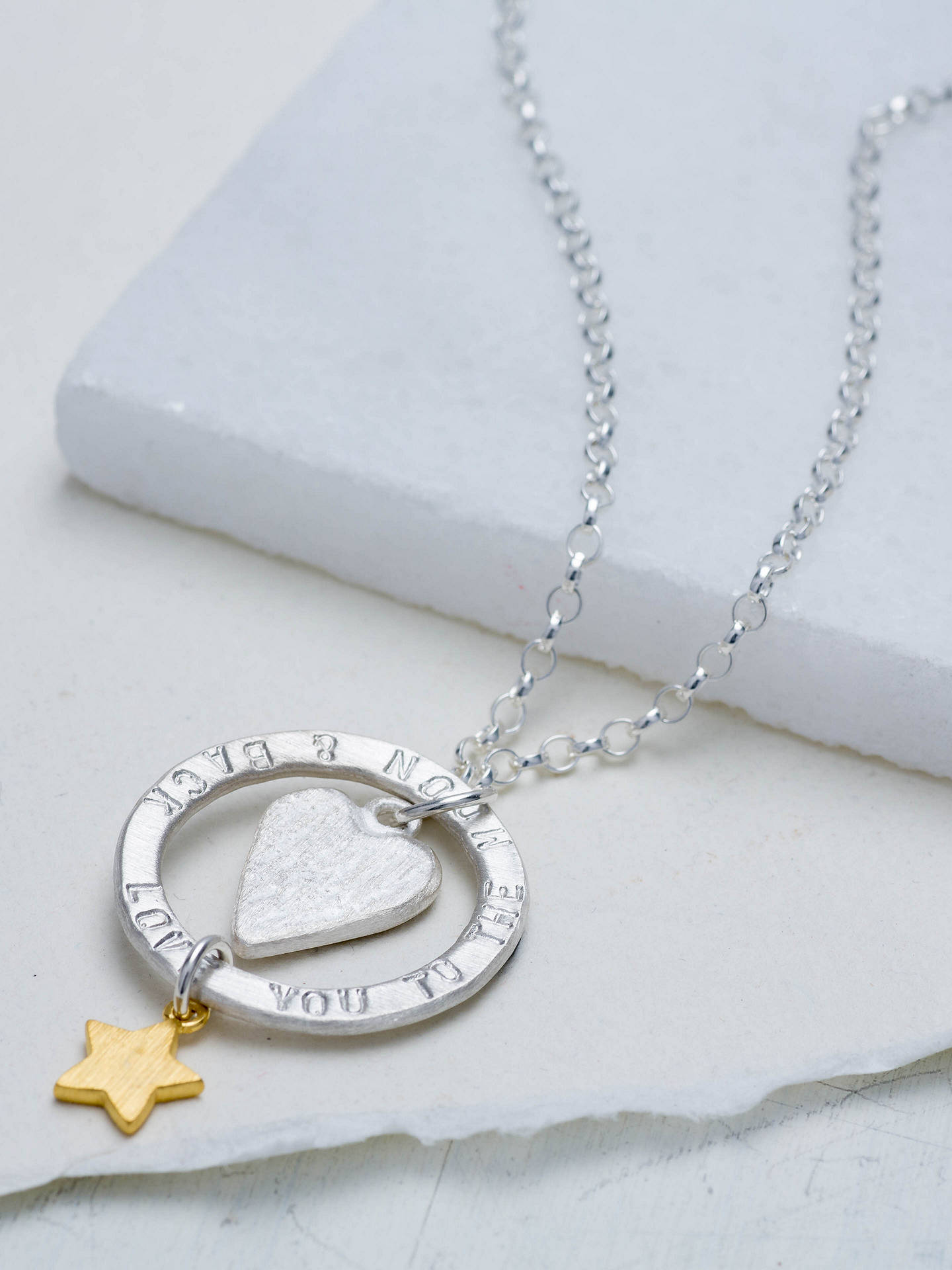 BuyChambers & Beau Personalised 'Love You' Halo Necklace Online at johnlewis.com
