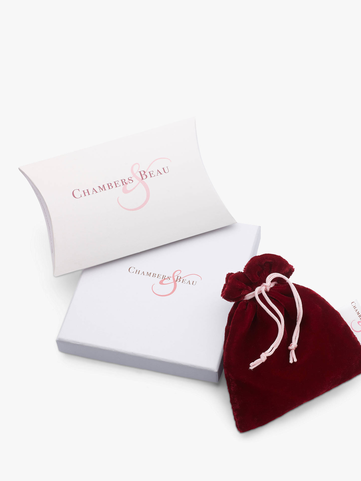 Buy Chambers & Beau Personalised Mini Halo and Star Necklace Online at johnlewis.com