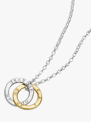 Chambers & Beau Personalised Linked Halo Necklace