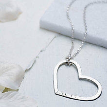 Buy Chambers & Beau Personalised Mega Heart Necklace Online at johnlewis.com