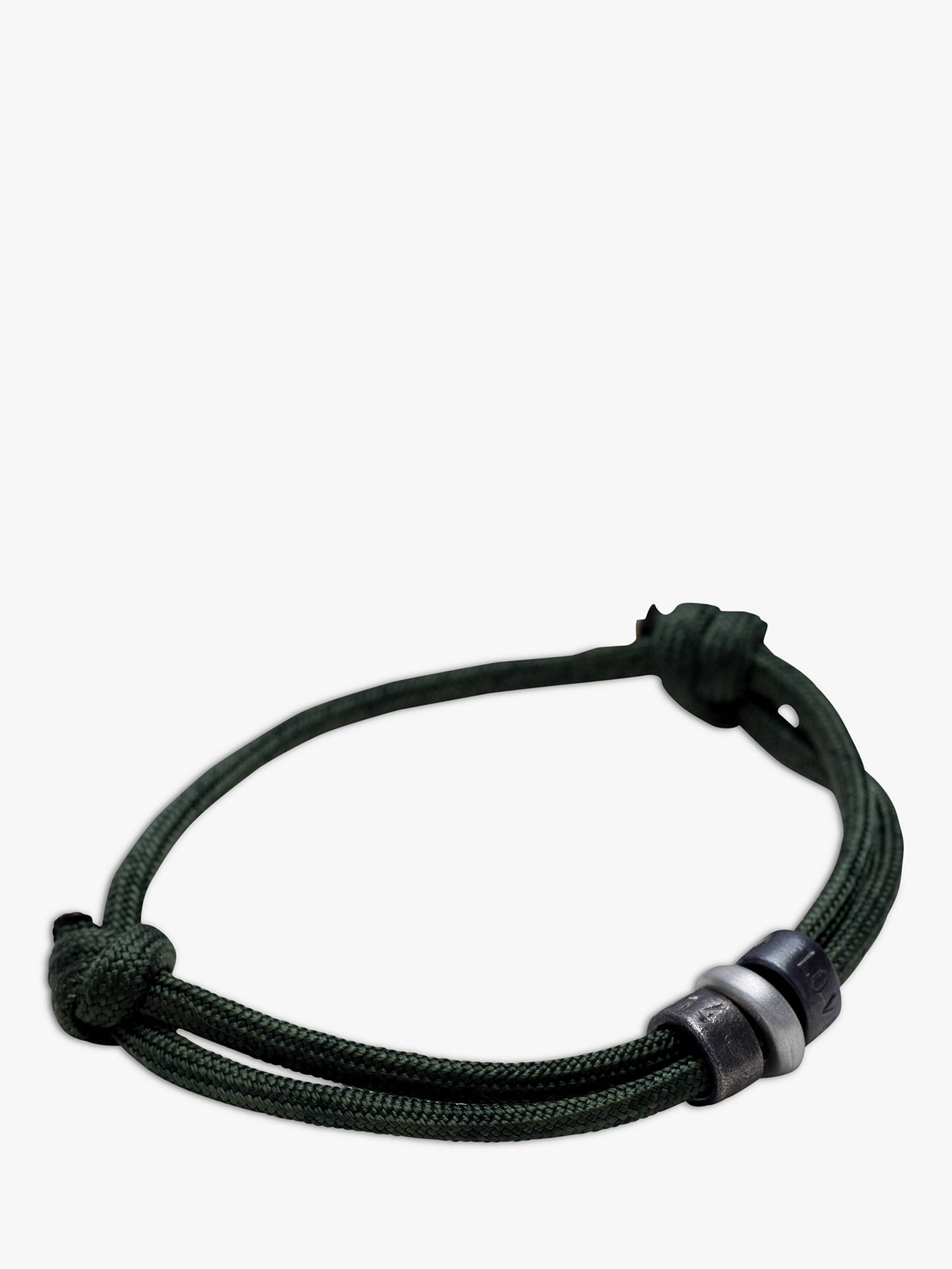 Buy Chambers & Beau Personalised Men's Bead Rope Bracelet Online at johnlewis.com