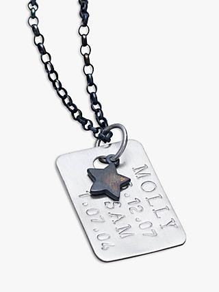 Chambers & Beau Personalised Men's Dog Tag Necklace