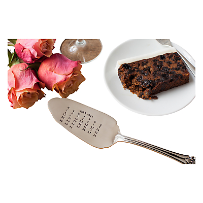 Cutlery Commission Silver-Plated Personalised Date Cake Slice