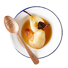 Buy Cutlery Commission Rose Gold Personalised Dessert Spoon Online at johnlewis.com