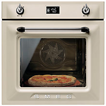 Buy Smeg SFP6925PPZE Built-In Single Electric Oven, Cream Online at johnlewis.com