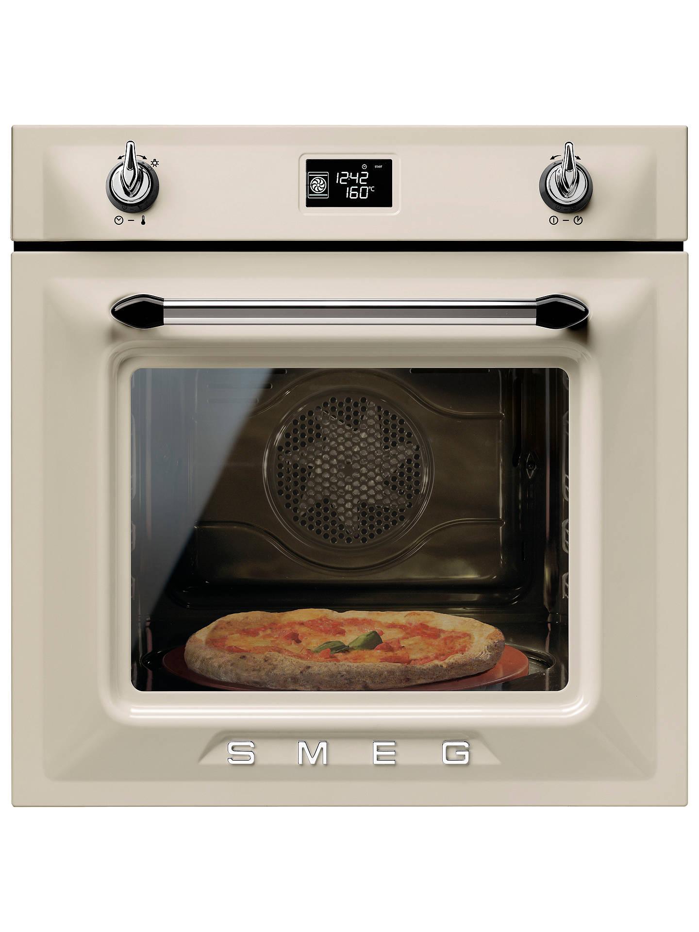 smeg sfp6925ppze1 built in single electric oven cream at. Black Bedroom Furniture Sets. Home Design Ideas