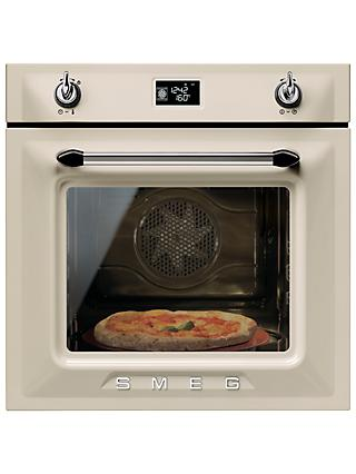 Smeg SFP6925PPZE1 Built-In Single Electric Oven, Cream