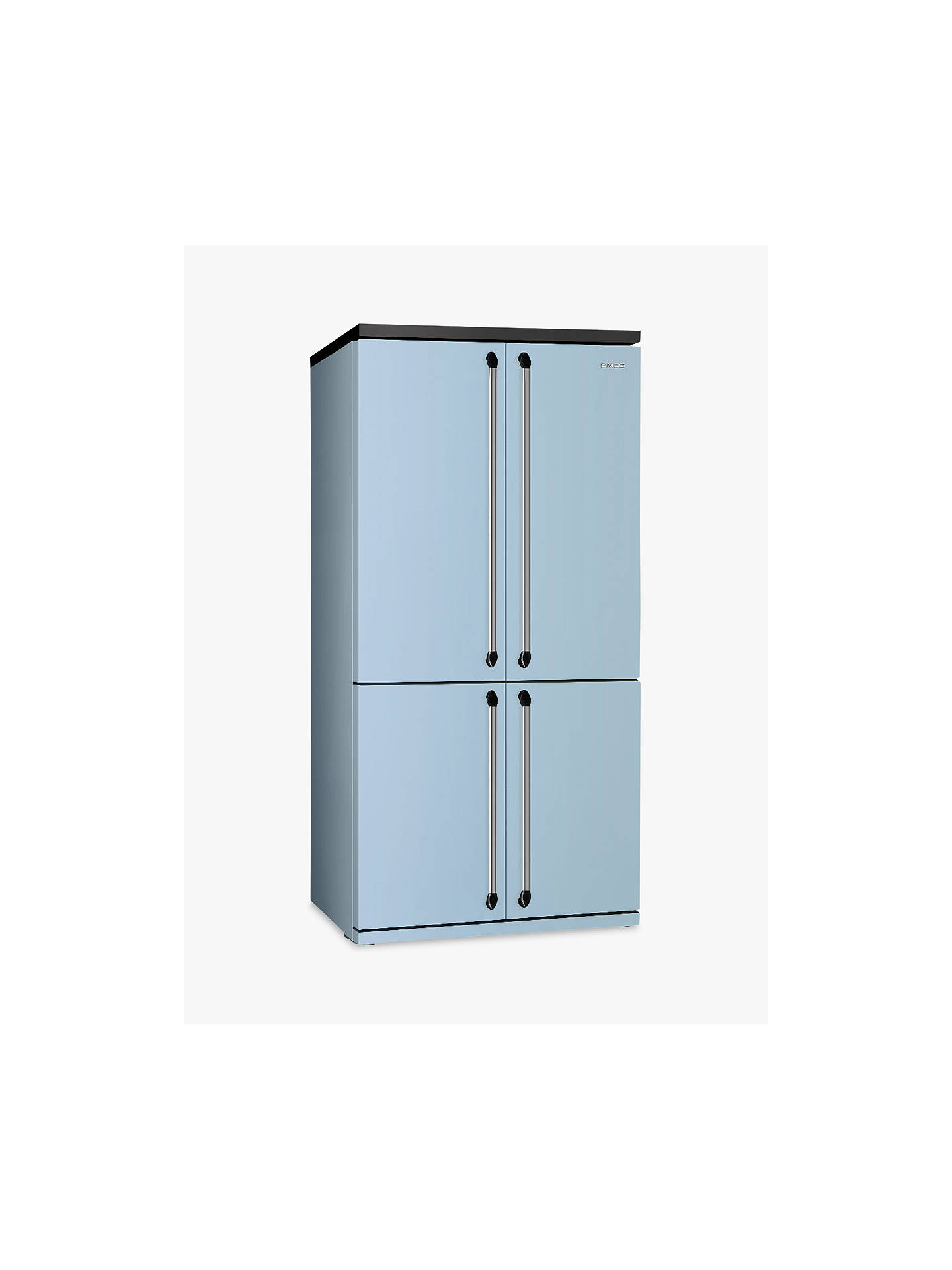 Buy Smeg FQ960PB 4-Door American-Style Freestanding 60/40 Fridge Freezer, A+ Energy Rating, 92cm Wide, Blue Online at johnlewis.com