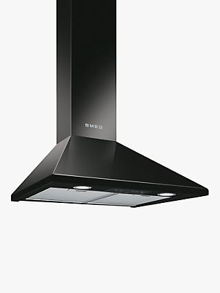 Smeg KSED65NEE 60cm Chimney Cooker Hood, Black