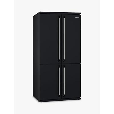 Smeg FQ960N 4-Door American Style Fridge Freezer, A+ Energy Rating, 92cm Wide, Black
